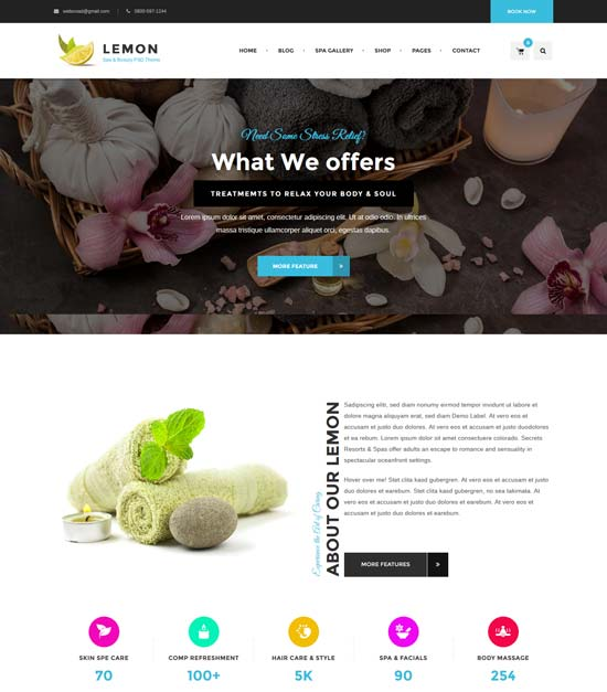 lemon spa beauty html5 template