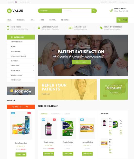 leo drug store responsive prestashop theme
