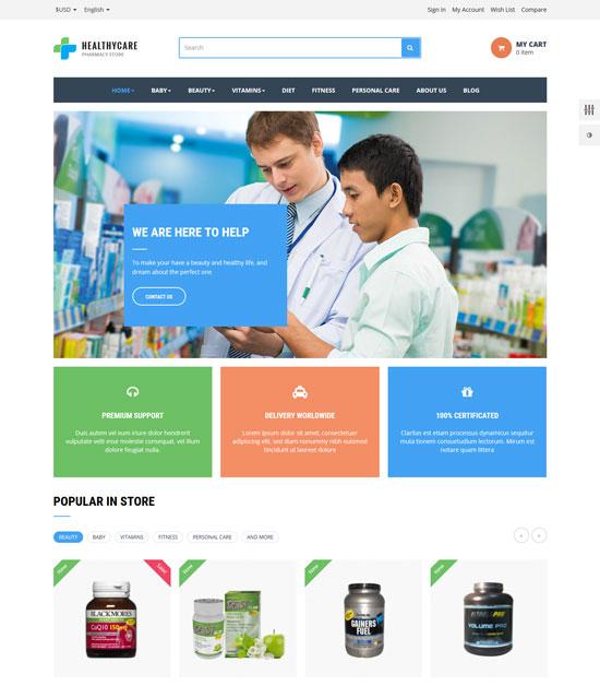 leo healthy care prestashop theme
