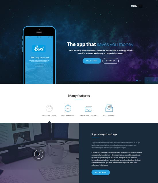 lexi mobile app WordPress theme