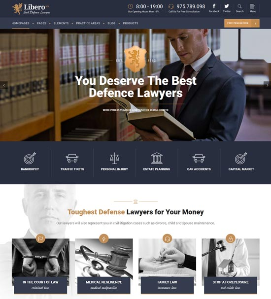 libero theme for lawyers and law firms