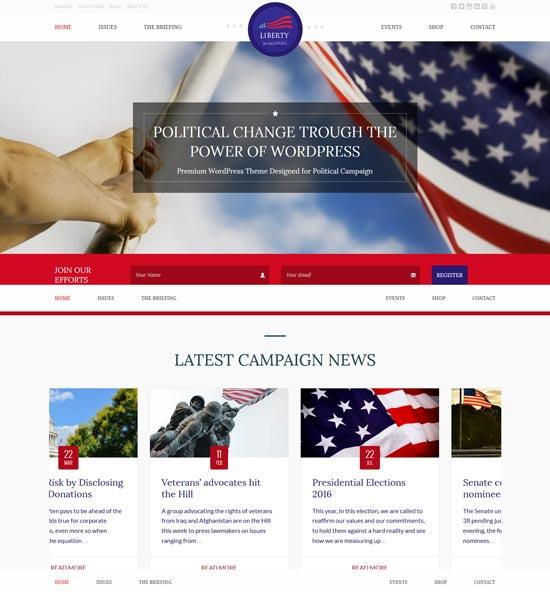 liberty political WordPress theme