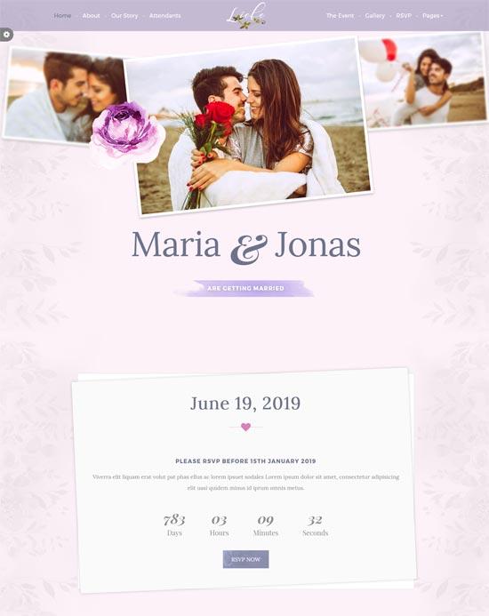 liebe responsive html wedding template