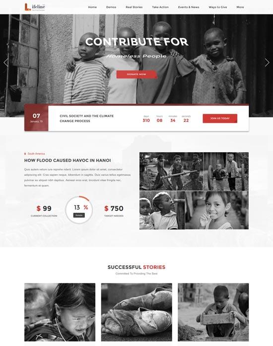 lifeline 2 nonprofit WordPress theme charity