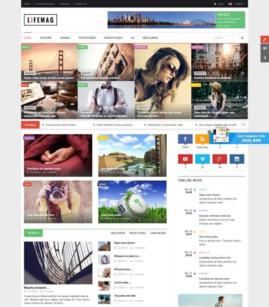 lifemag magazine joomla template