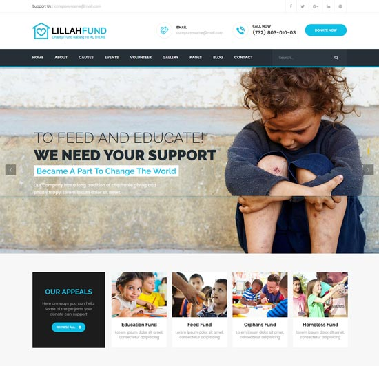 lillah fund charity html5 template