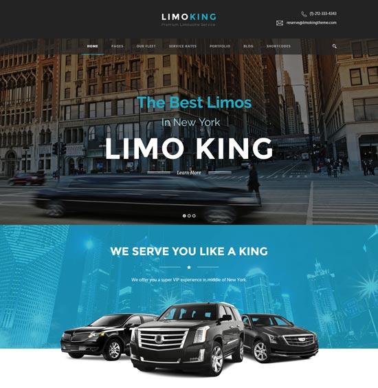limo king limousine transport car hire theme