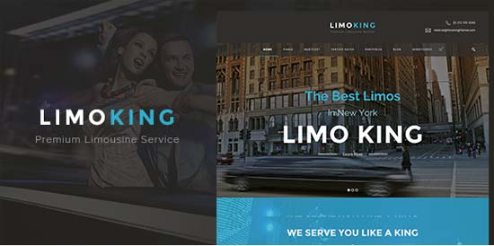 limo king limousine transport car hire wordpress theme