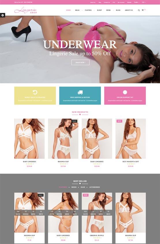 lingerie shop fashion prestashop theme