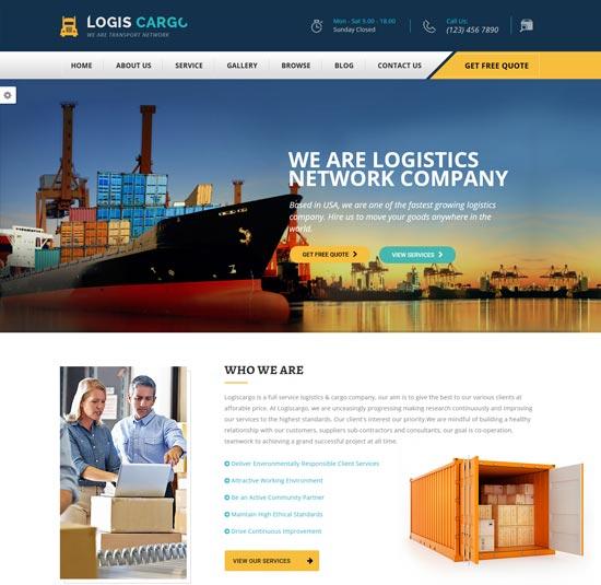 logiscargo logistics cargo WordPress theme