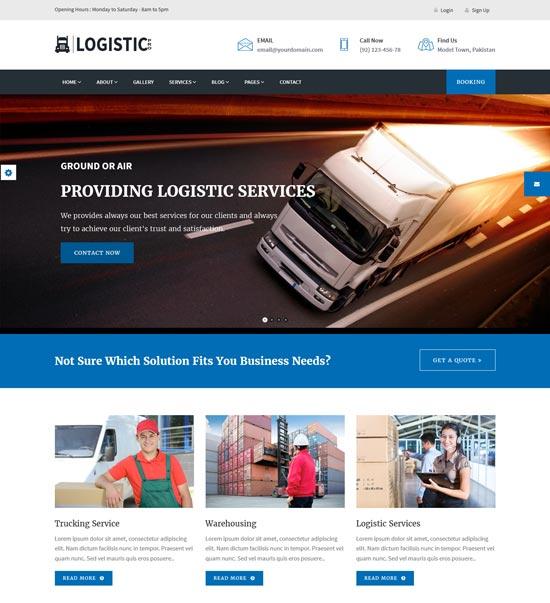 logistic pro transport WordPress theme