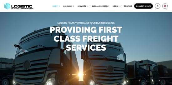 logistic wp theme for transportation business