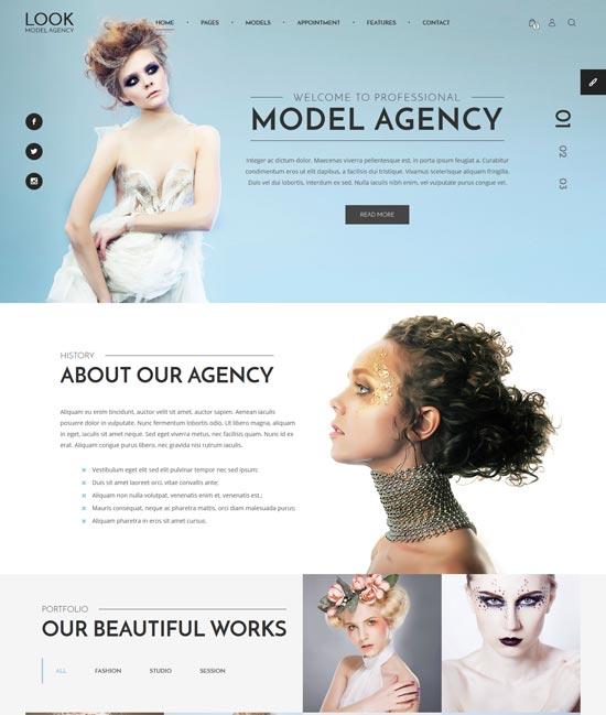look model agency html template