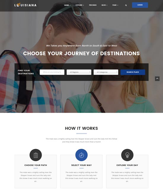 louisiana listing directory WordPress theme
