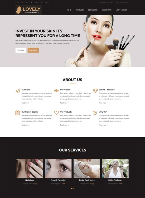lovely cosmetics html template