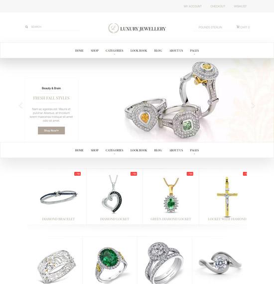 luxury jewellery WordPress theme