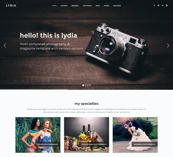 lydia-photography-site-template