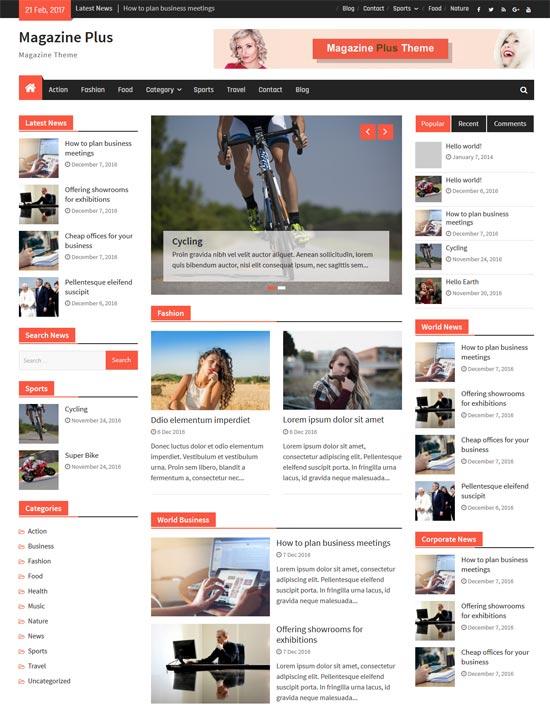 magazine plus free responsive wordpress theme