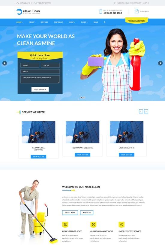 make cleaning company WordPress theme