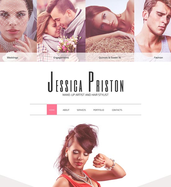 make-up-artist-website-template
