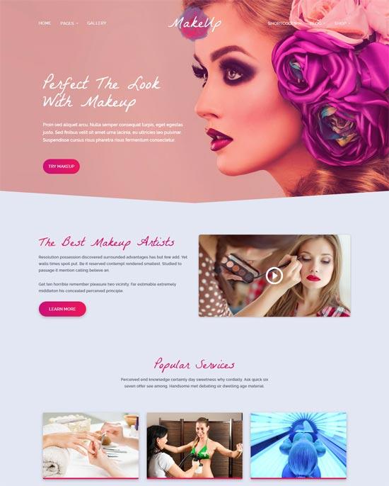 makeup beauty wordpress theme