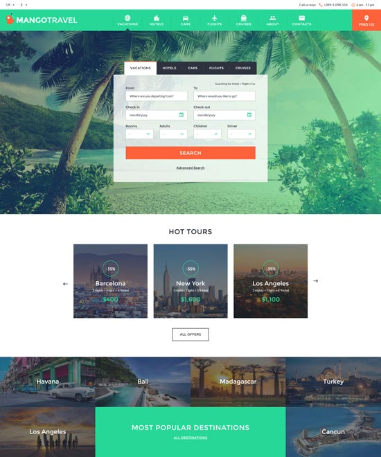 mangotravel-travel-website-template
