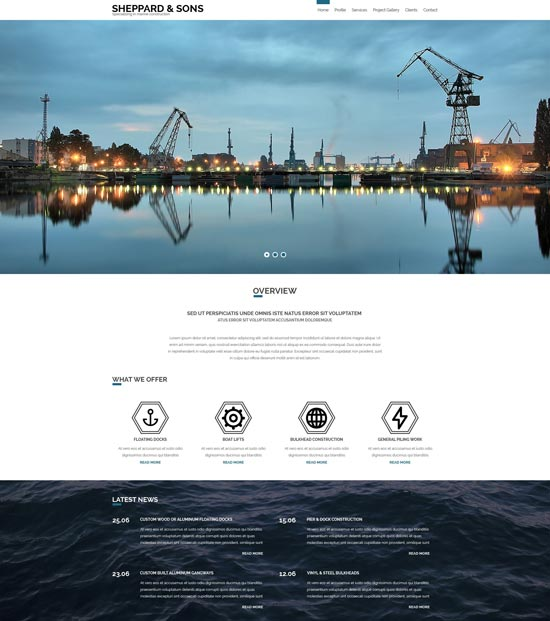 marine-construction-company-website-template