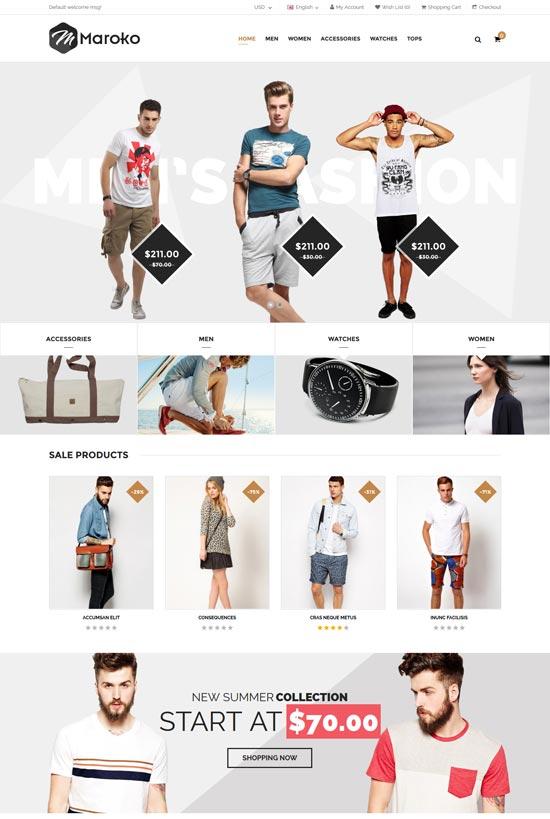 maroko responsive opencart fashion theme