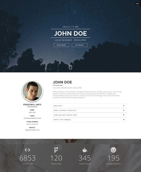 marqa personal portfolio html template