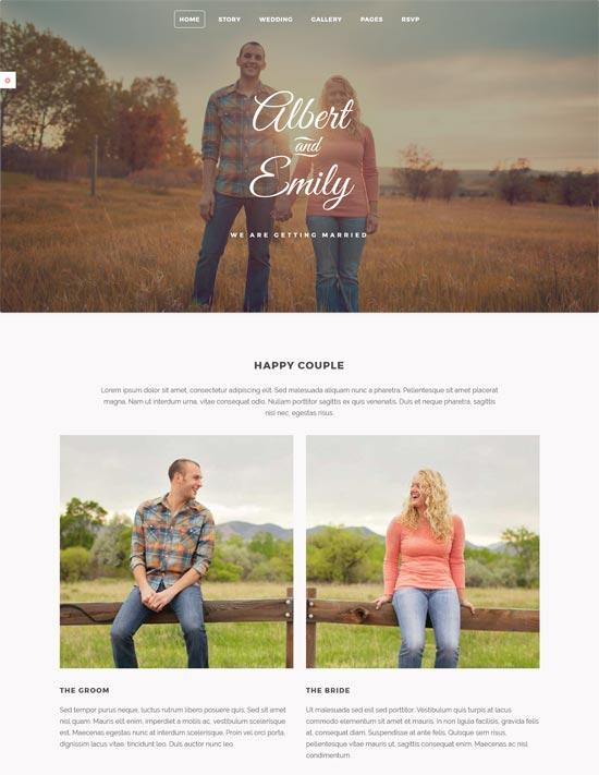 marry responsive html wedding template