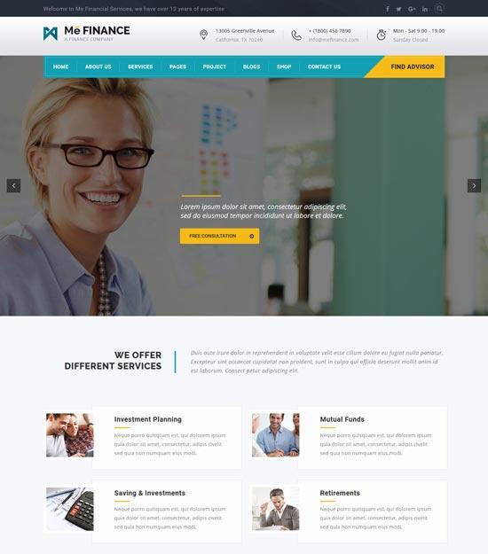 me finance WordPress theme