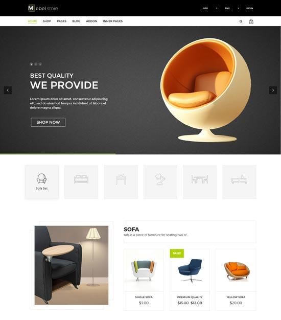 mebel furniture store WordPress theme