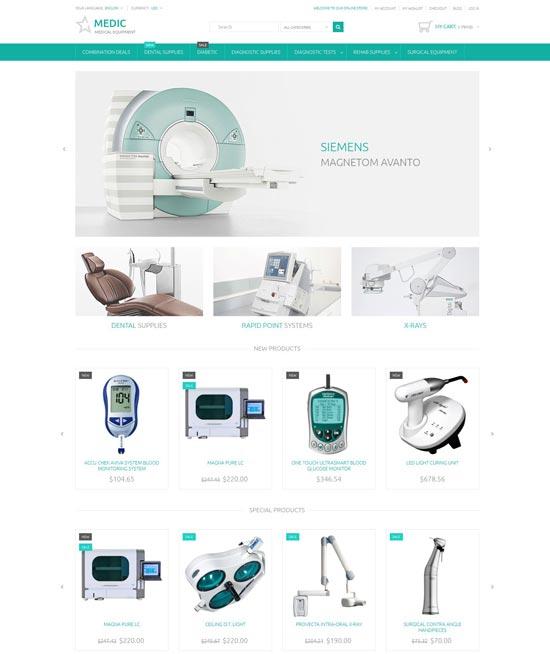 medical equipment magento theme 53530