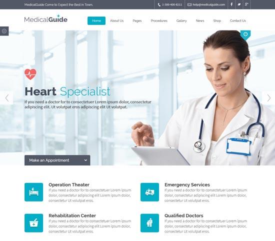 medicalguide health medical template