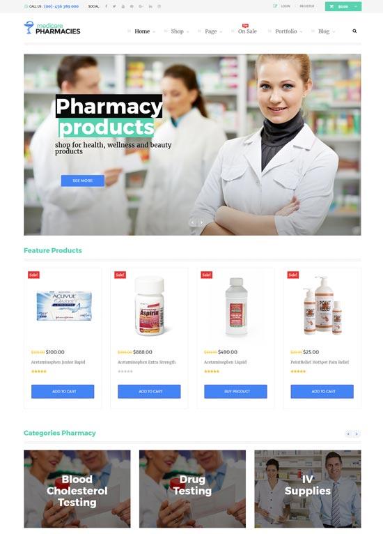 medicare pharmacies wordpress theme