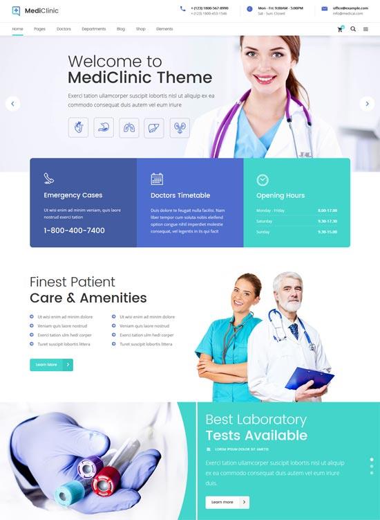 mediclinic health medical wordpress theme