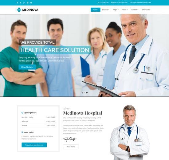 medinova health medical html template