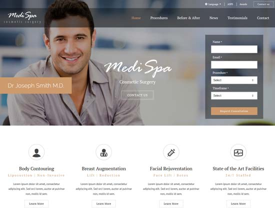 medispa cosmetic surgery html template