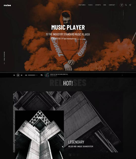 meloo music playback html template
