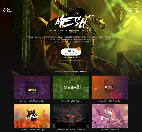 mesh music band club theme