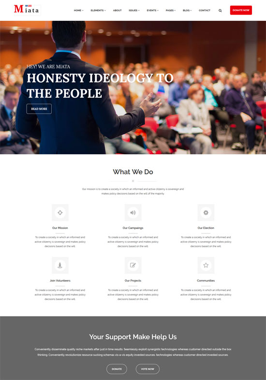 miata political html5 template