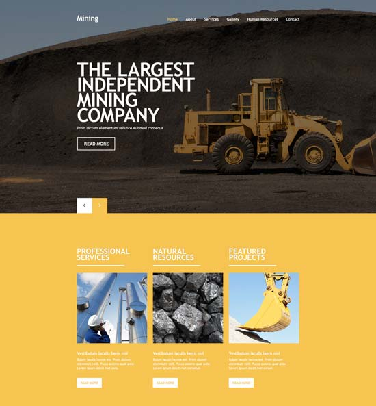 mining-company-website-template-55434