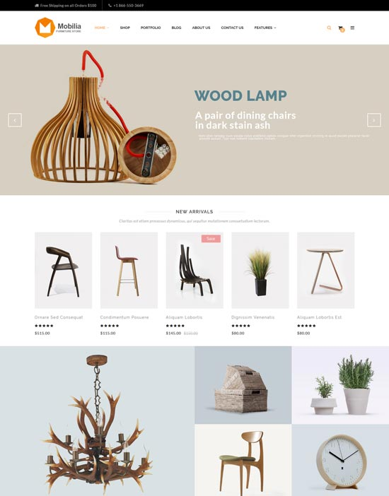 mobilia furniture WordPress theme