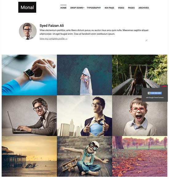 monal flexible free blogger template