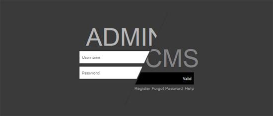 monotone admin login css