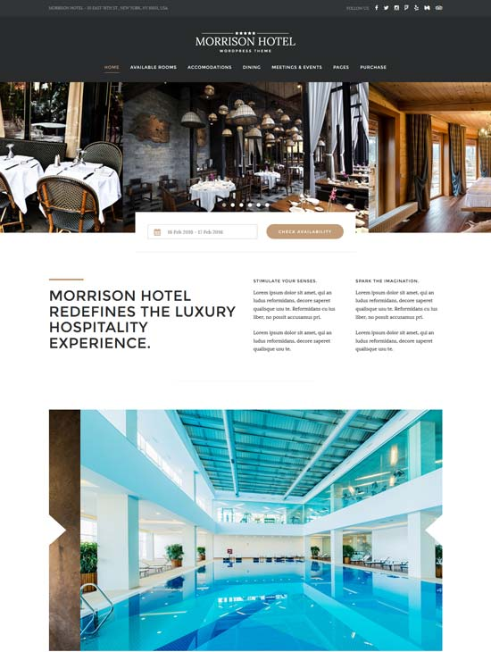 morrison hotel booking WordPress theme