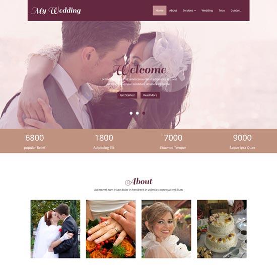 my wedding free wedding responsive template