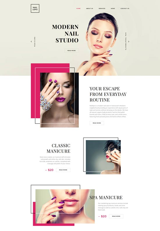 nail lepo website template