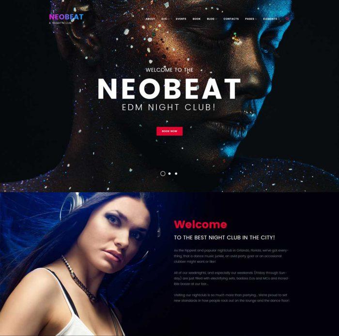 neobeat music wordpress theme