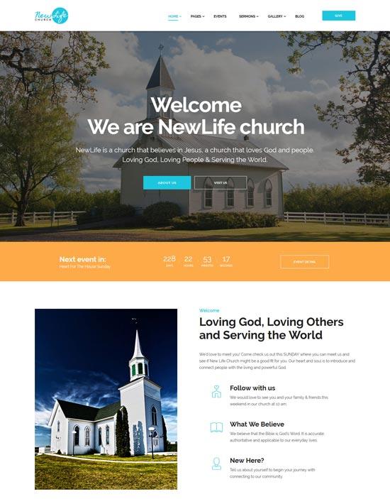 new life church WordPress theme
